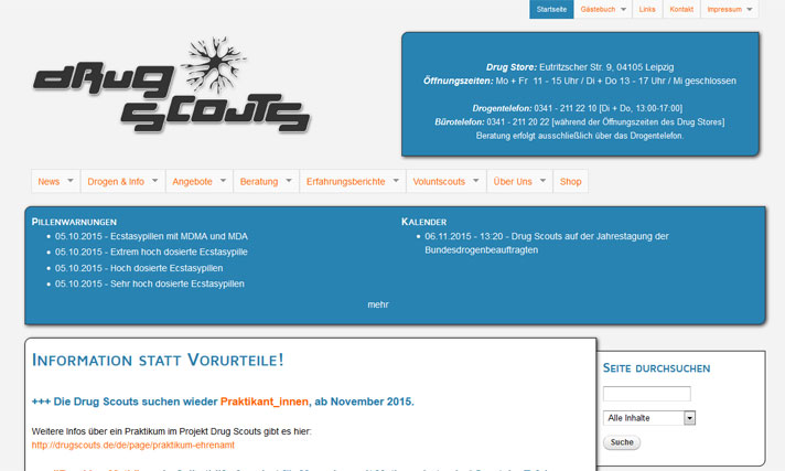 Homepage Drugscouts