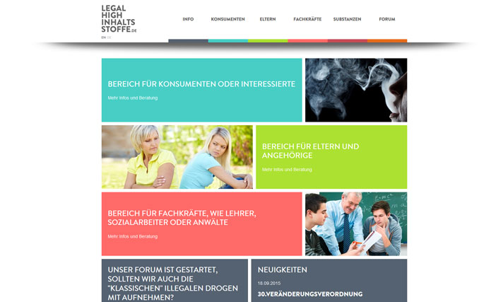 Homepage www.legal-high-inhaltsstoffe.de